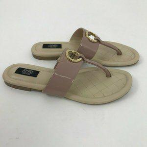 Jones New York Signature Nude Patent Thong Sandals